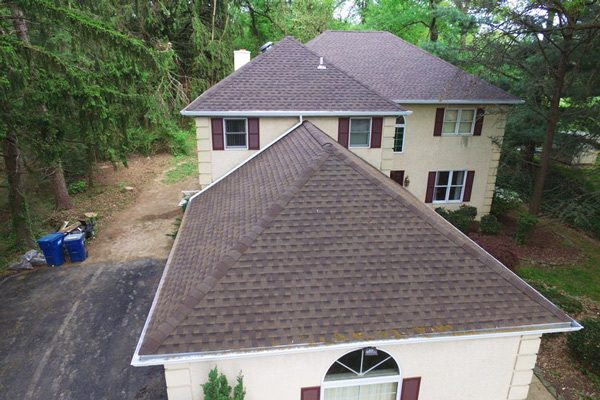 Home After Construction with Shingle Roof