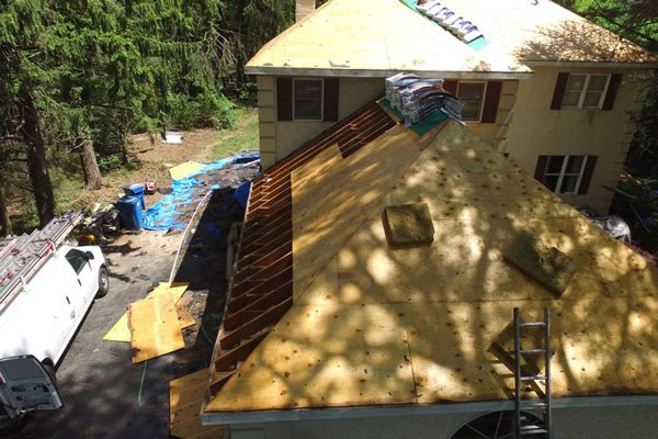 House in Construction Before Roof was Installed